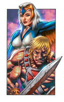 He-Man and Sorceress by CValenzuela