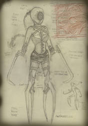 Cenobite Female Concept  by RevImhotep