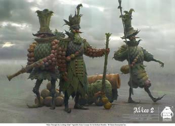 Alice Through the Looking Glass - Veggie Soldiers by michaelkutsche