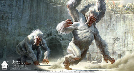 John Carter - White Apes Concept by michaelkutsche