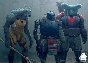 Thor: Ragnarok - Sakaar Warriors Concept by michaelkutsche
