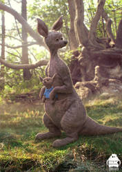 Christopher Robin: Kanga + Roo Character Design by michaelkutsche