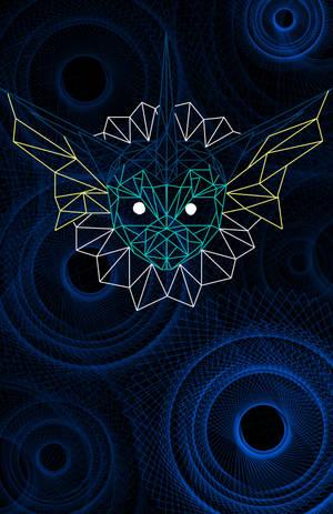 Geometric Vaporeon by BlackFalconWhiteWolf