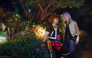 Kingdom Hearts: Sora and Riku by behindinfinity