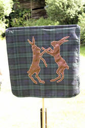 Boxing Hares Banner -1 by Bifford