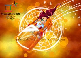 Auriana at the 2018 PyeongChang Olympics by Galistar07water