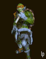 Michelangelo Teenage Mutant Ninja Turtles by leoincba