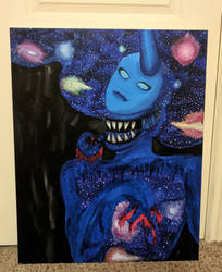 The Universe (Painting) by BlueOpallec