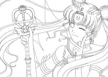 Eternal Sailormoon-Lineart by saphi-saphi