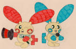 Plusle and Minun Sings Dances by Wanda92