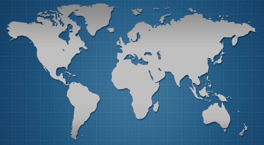 Worldmap-blue by urieluxd