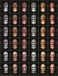 Uruk-hai heads: Head textures variations. by SteMega