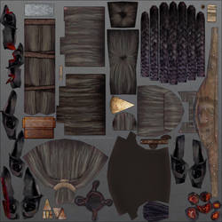 Uruk-hai heads: Sample props texture. by SteMega