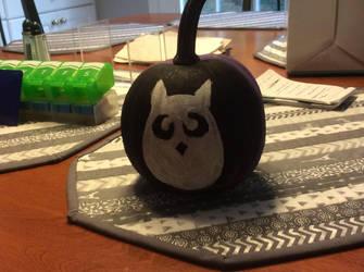 Owl Pumpkin by Cerberus-Chaos