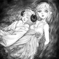 my immortal -black and white by jurithedreamer