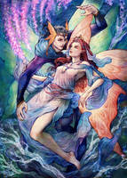 Oberon and Titania by jurithedreamer