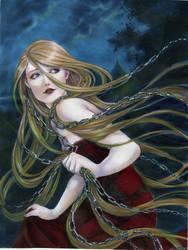 Rapunzel, running away II by jurithedreamer