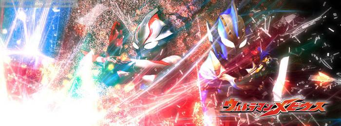 Ultraman Mebius And Ultraman Hikari by diendfire555