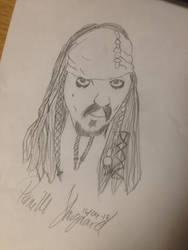 Jack Sparrow - Johnny Depp [Pencil Drawing] by cutedeviantfangirl