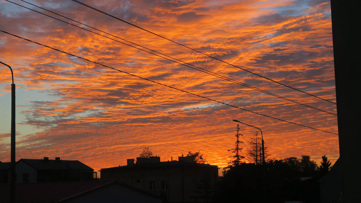 Clouds at sunset by ThisIsInternet