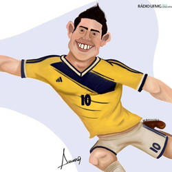 James Rodriguez - Caricature by assumpcao