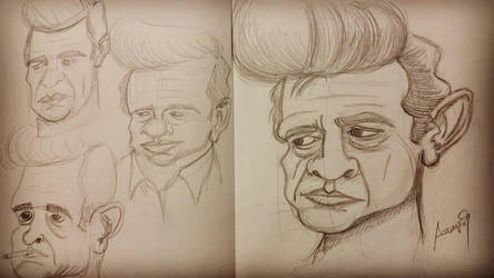 Johnny Cash - Caricature by assumpcao