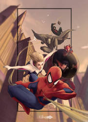 spiderman into spider verse by 10times by deepankar733