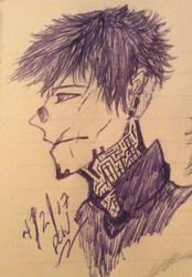 Pen Sketch by DrCrazyWolf