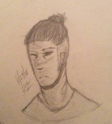 Ezekiel in a man bun by DrCrazyWolf