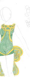 Shamrock Dress (First Draft version) by FoxyMouse