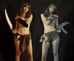 Fantasy vs. Postapocalypse by ohlopkov