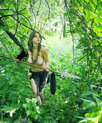 Polina with spear 5 by ohlopkov