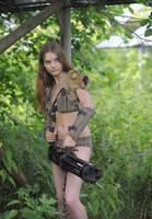 Olga the machinegunner by ohlopkov