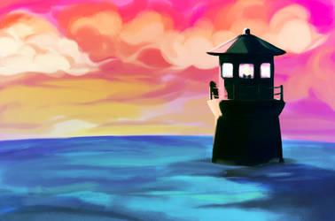 Top of the Lighthouse by KuroRyu15