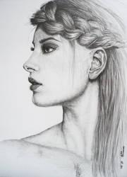 woman profile by Eva-done by eva-chausheva
