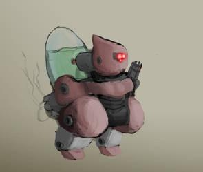 Pink Bubble bot by p-train-w