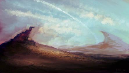 alien desert by MartinBailly