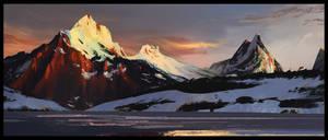 Schreckhorn mountain by MartinBailly