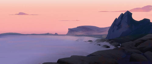 Rocky coast by MartinBailly