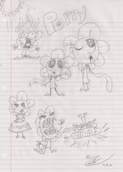 Silly Little Flower Doodles by ZBot9000