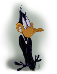 A Cel Shaded Daffy by dogatemyshrooms
