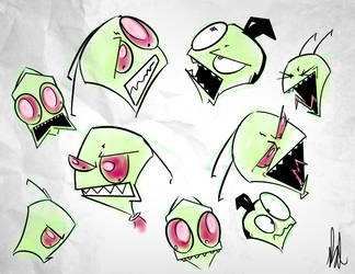 IZBC: Zim Expressions by dogatemyshrooms