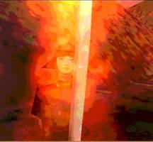 Aerin's Fiery Sword by aquaviann