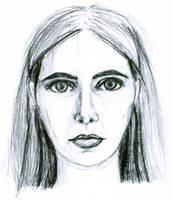 Self Portrait Sketch by aquaviann