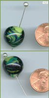 Cosmic Lime - Glass Bead by aquaviann