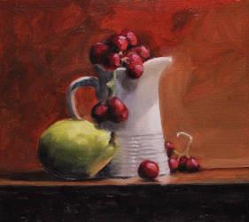 Still life study in oils  by EvanKearneysArt