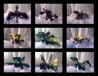 Crochet Dragons by karakanatmelek