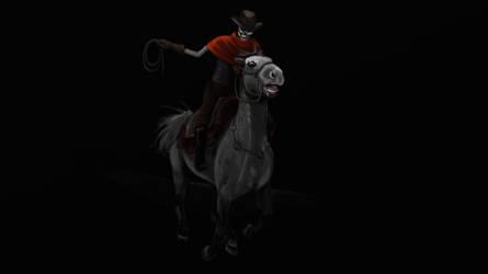 Cadaverous Cowboy by karakanatmelek