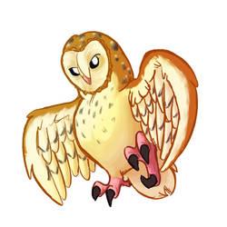 Barn Owl Practice on ProCreate by SlushiOwl