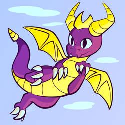 Spyro the Dragon by SlushiOwl